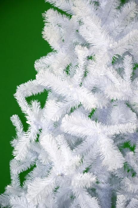 Brad de Craciun artificial Fagaras 210 cm alb 0