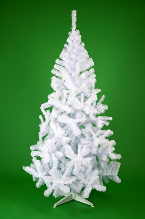 Brad de Craciun artificial Fagaras 210 cm alb 1