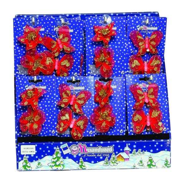 Cartonas cu doua flori sau doi fluturi rosii 7cm 0