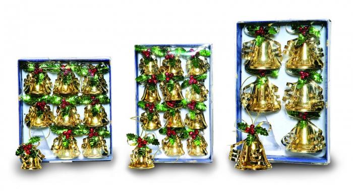 Clopotei aur luciu 3 marimi asortate 0
