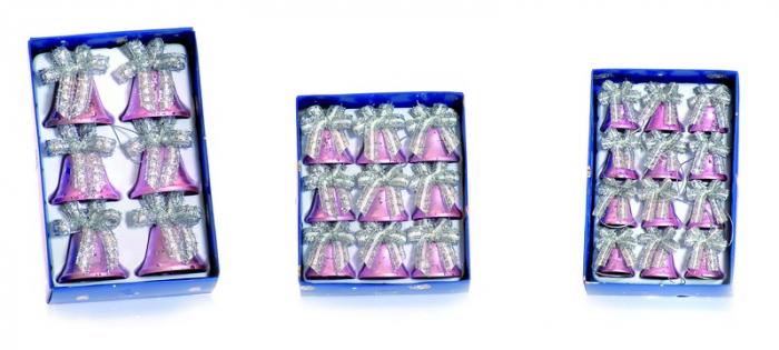Clopotei metalici roz 3 marimi 0