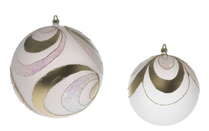 Glob 200mm opal decor Onda Pieno auriu 0