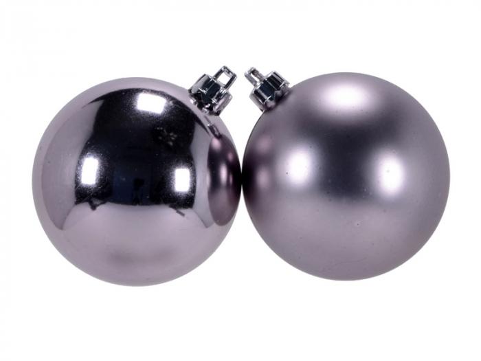 Glob de Craciun 150mm finisaj metalizat/satinat roz 0