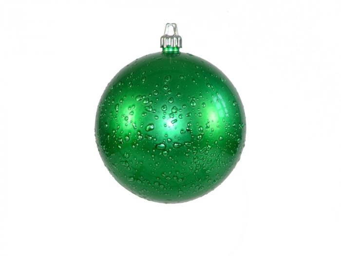 Glob de Craciun 150mm verde decor Roua 0