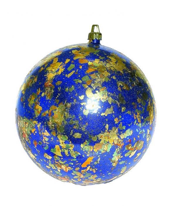 Glob de Craciun decor Nouvo Tamise albastru diametru 15 cm [0]