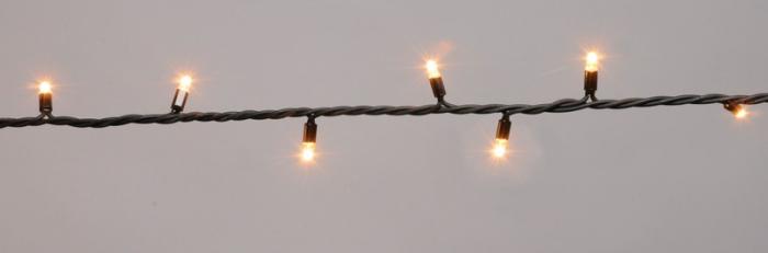 Instalatie 100 miniluminite alb superluminos pentru exterior 0