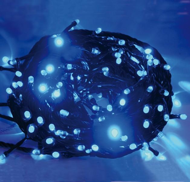 Instalatie cu 100 microluminite fixe albastre, pentru interior 0