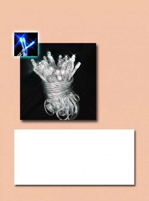 Instalatie cu 180 leduri alb cald superluminos cu fir transparent 0