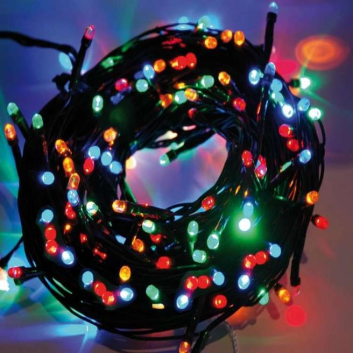 Instalatie cu 35 leduri multicolor superluminos cu lumini fixe, pentru interior 0