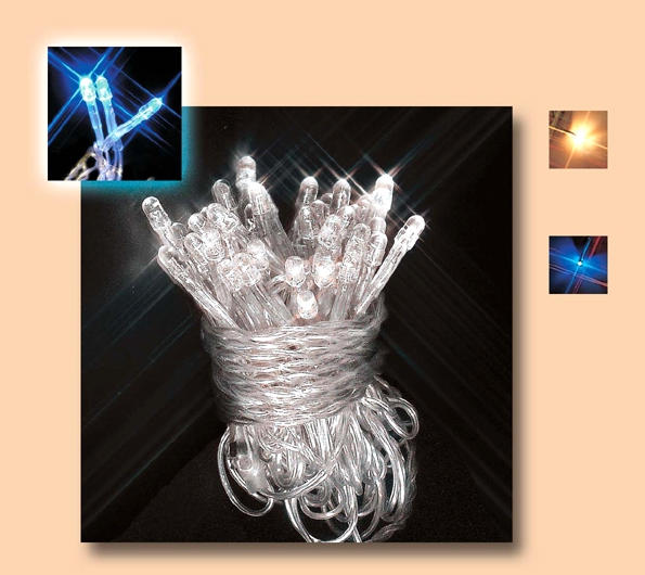 Instalatie cu 50 leduri alb superluminos cu transformator, pentru exterior 0