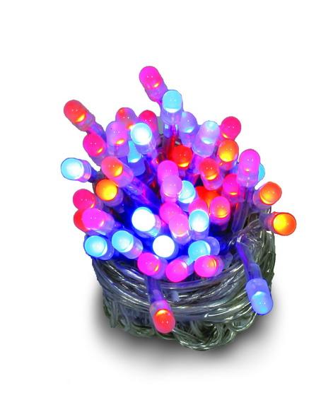 Instalatie cu 50 leduri multicolor superluminos cu transformator, pentru exterior 0