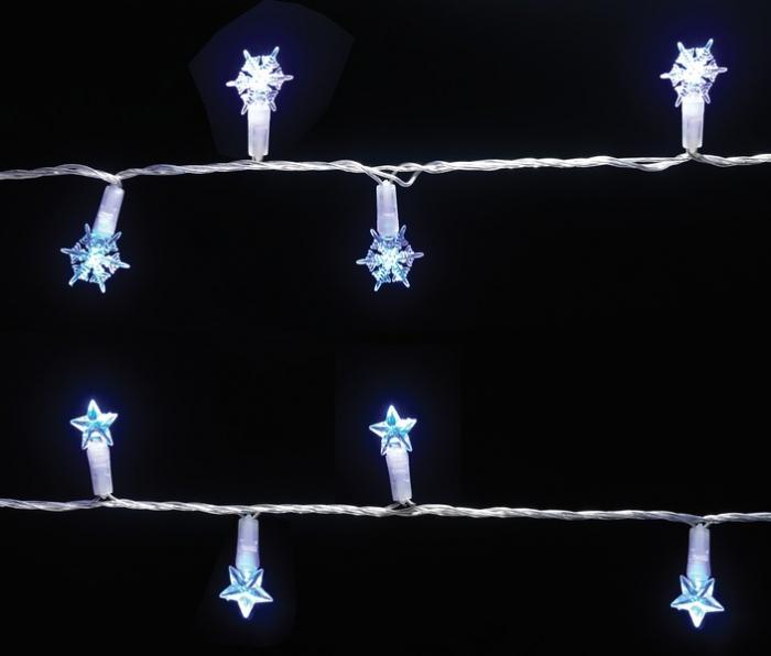 Instalatie cu 96 stele sau fulgi cu leduri albastre, pentru exterior 0