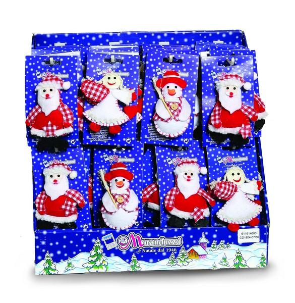 Ornamente din stofa alb/rosu 12cm 3 modele 0