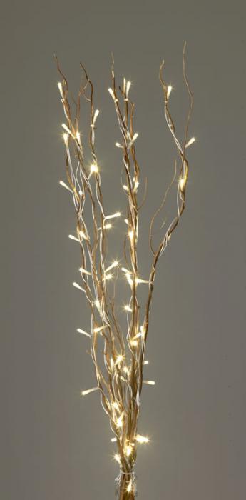Ramuri naturale 95cm cu instalatie luminoasa cu 64 de leduri ivory 0