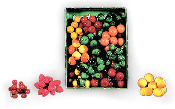Set 144 de decoratiunifructe (mere si pere) 15mm 0