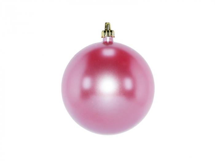 Set 2 globuri de Craciun 100mm roz perla  0
