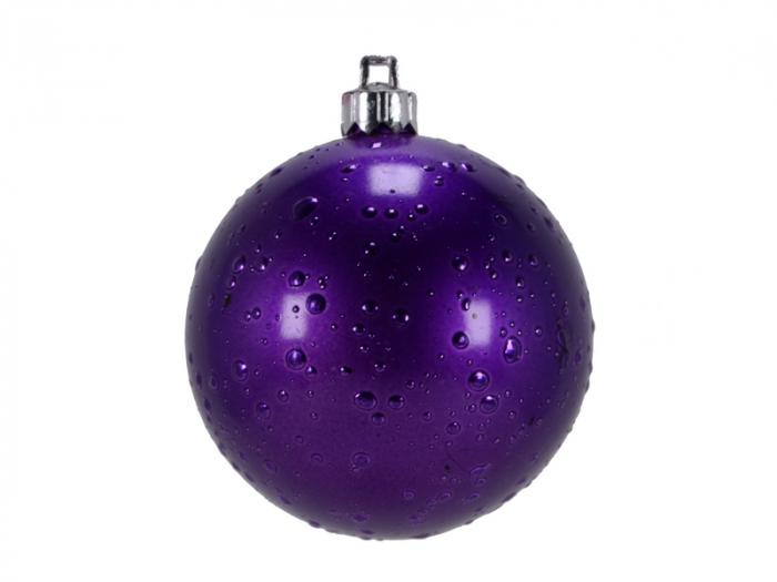 Set 2 globuri de Craciun 100mm violet decor Roua 0