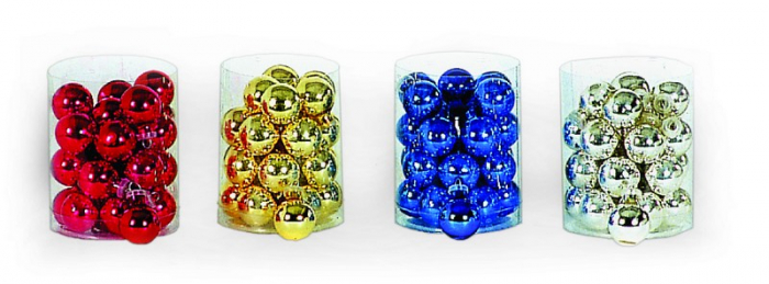Set 24 globuri albastre din sticla 2.5cm [1]