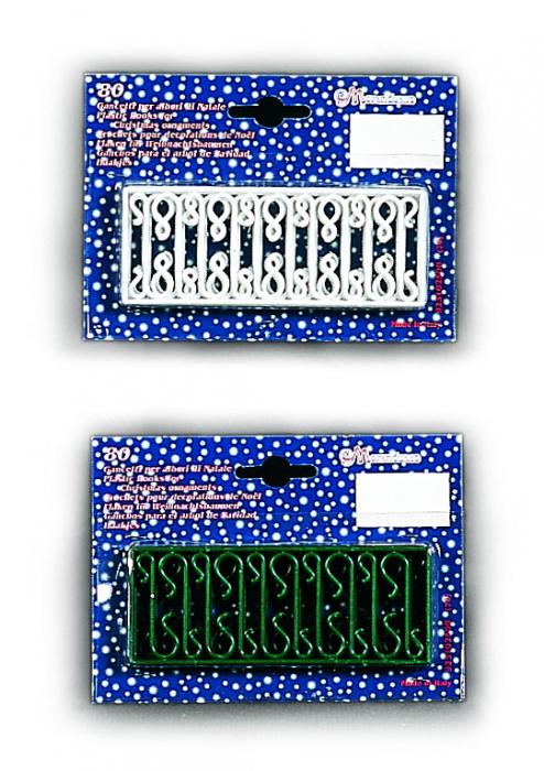 Set carlige verzi pentru agatarea decoratiunilor in brad 80 buc/set [0]