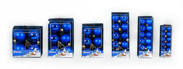 Set de 20 globuri 50 mm albastre [0]