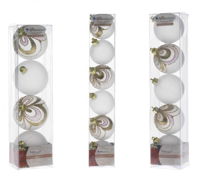 Set globuri 50/60/70 mm opal decor Mezza Onda auriu [0]