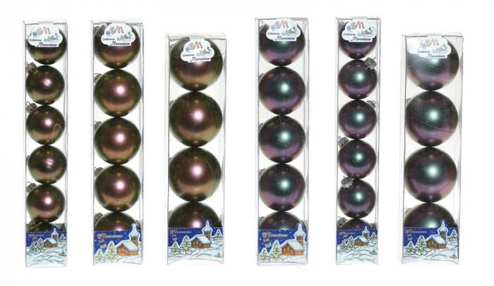 Set globuri 50/60/70mm negru irizat doua nuante [0]