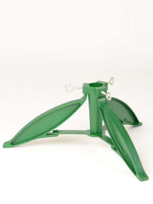 Suport plastic verde pentru brad natural 0