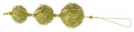 Ornamente aurii cu glitter 16 cm0