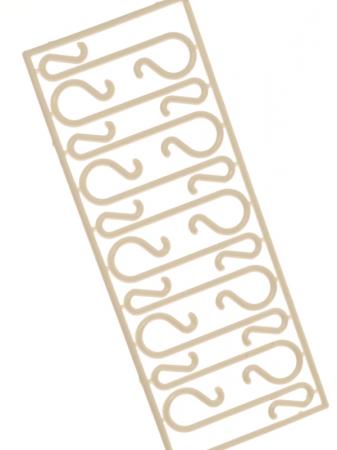 Set 40 carlige albe pentru agatat globuri [1]