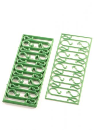 Set carlige verzi pentru agatarea decoratiunilor in brad 40 buc/set