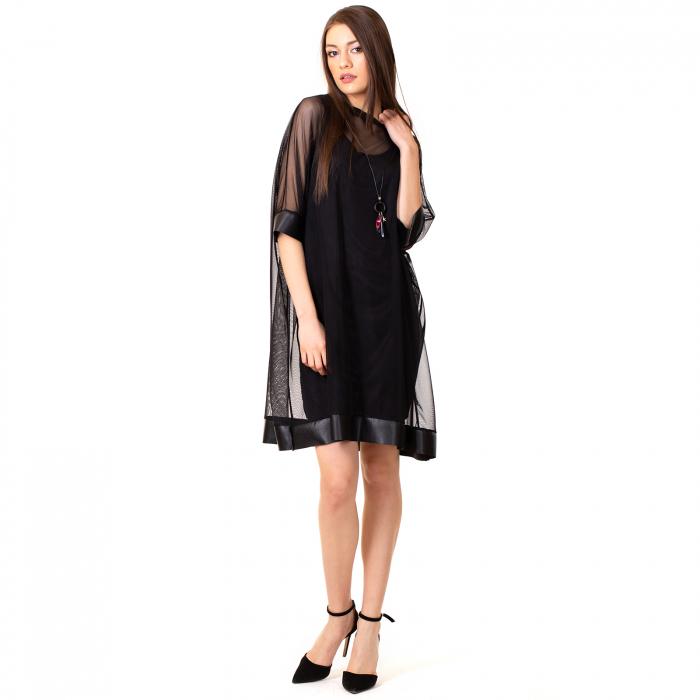 Rochie transparenta cu maieu 2