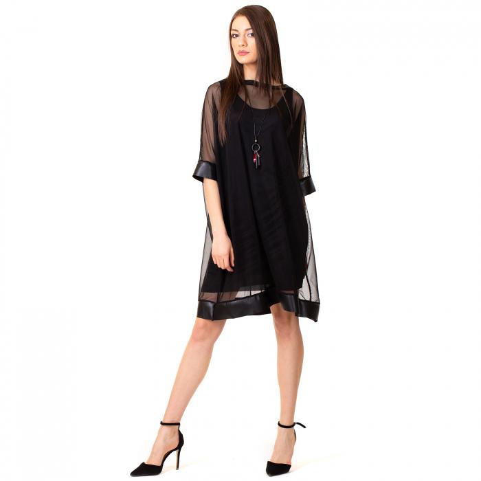Rochie transparenta cu maieu 3