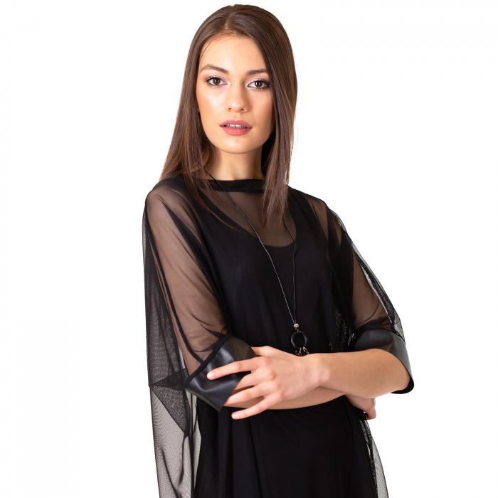 Rochie transparenta cu maieu 5