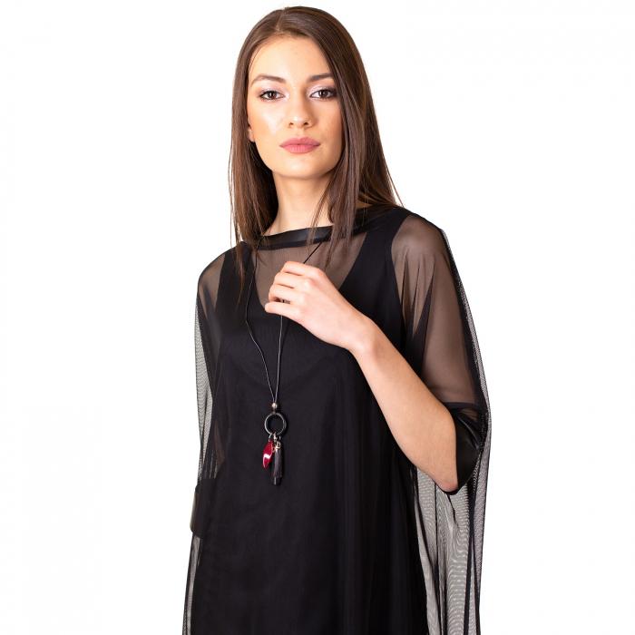 Rochie transparenta cu maieu 6
