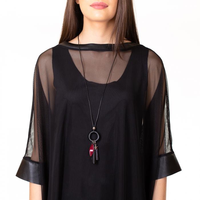 Rochie transparenta cu maieu 8