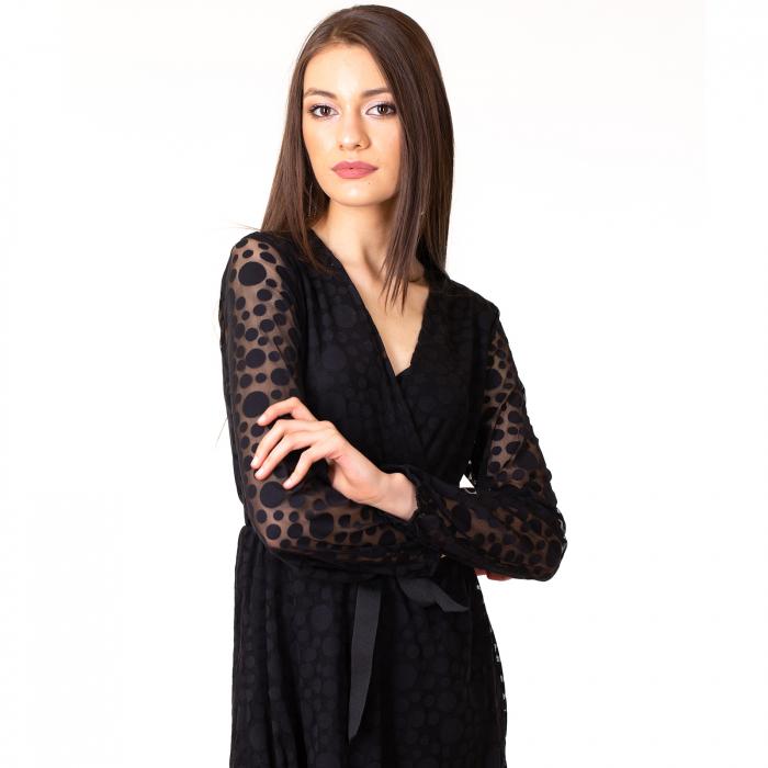 Rochie cu bluine si cordon 4