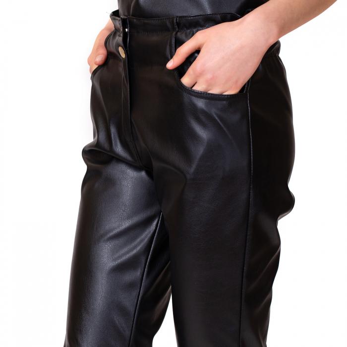 Pantalon piele ecologica cu buzunare 5
