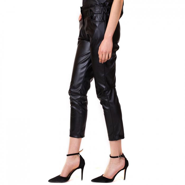 Pantalon piele ecologica cu buzunare 0