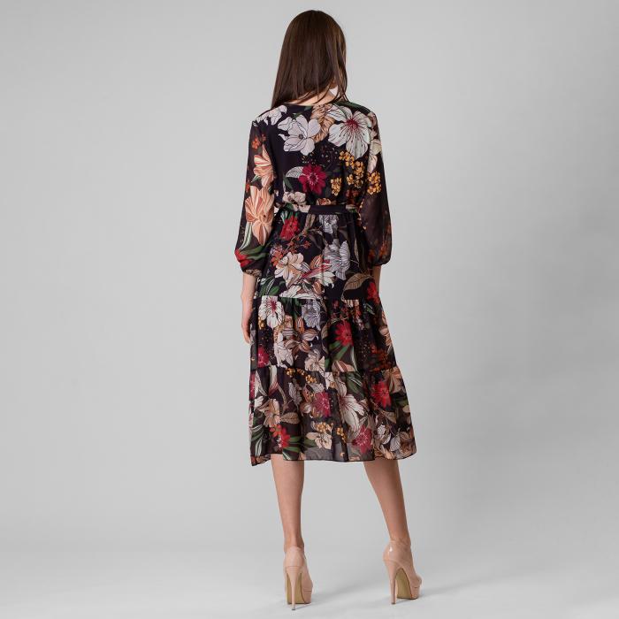 Rochie lunga cu imprimeu floral 3