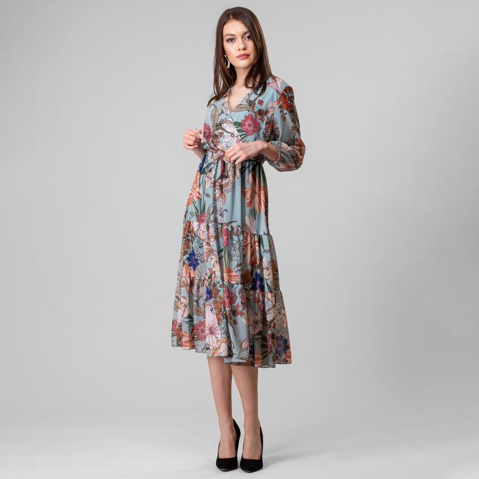 Rochie cu imprimeu floral 2