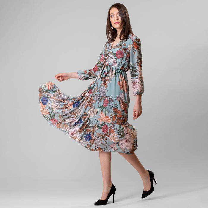 Rochie cu imprimeu floral 3