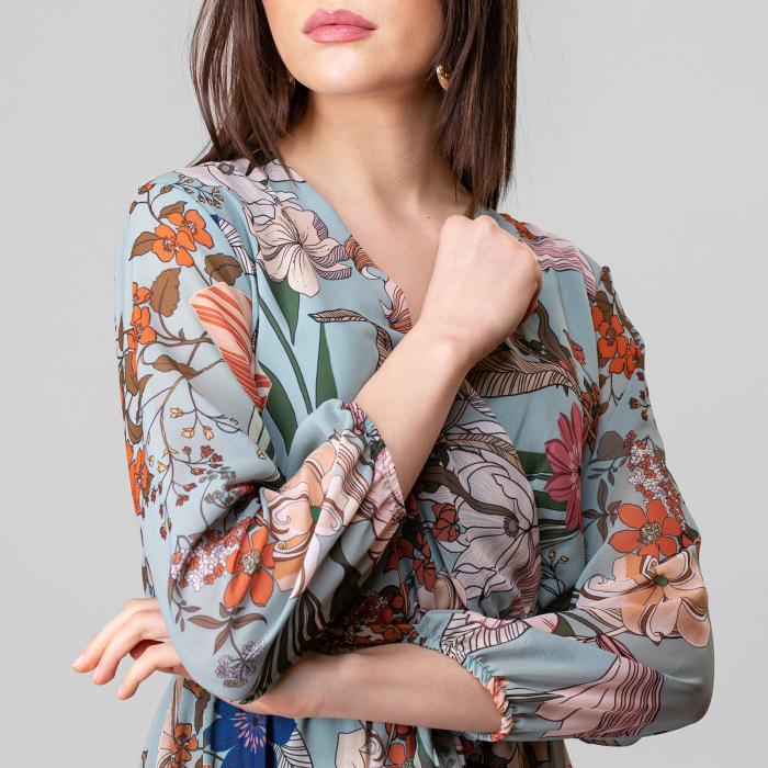 Rochie cu imprimeu floral 5
