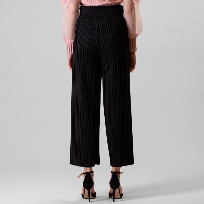 Pantalon plisat cu curea 5