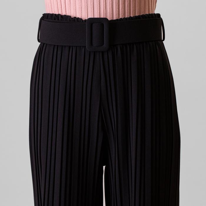 Pantalon plisat cu curea 2