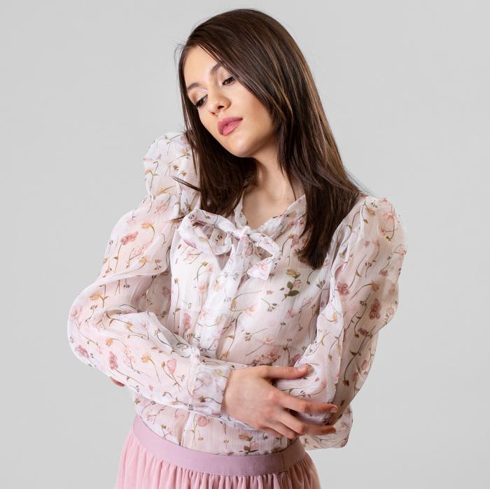 Bluza imprimeu floral 7