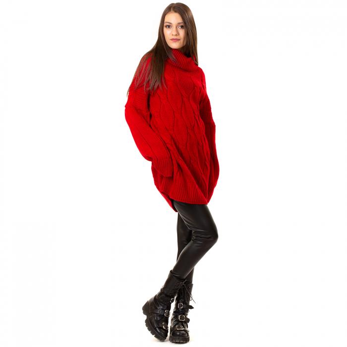 Pulover tricotat cu guler 2