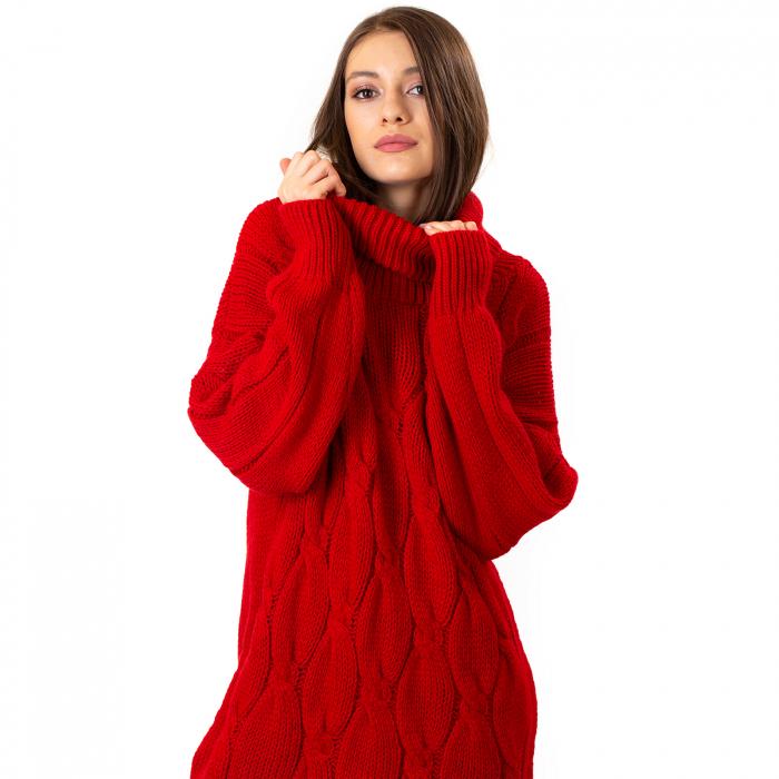 Pulover tricotat cu guler [6]