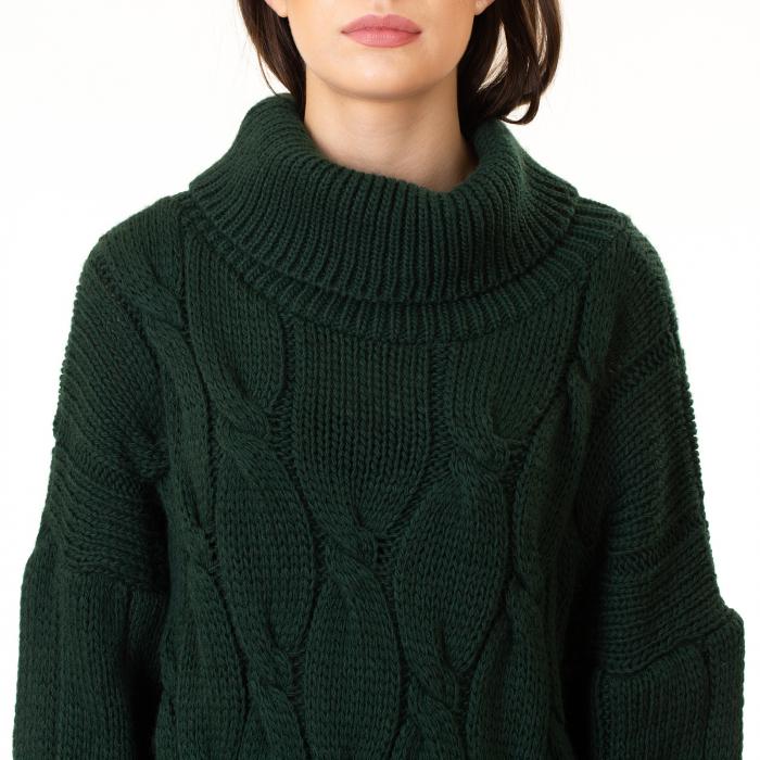Pulover tricotat cu guler 7
