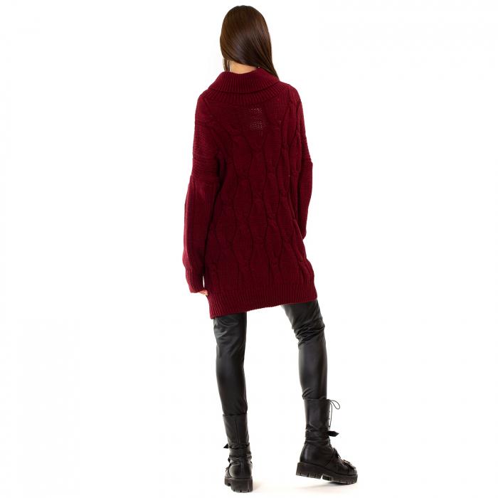 Pulover tricotat cu guler 4