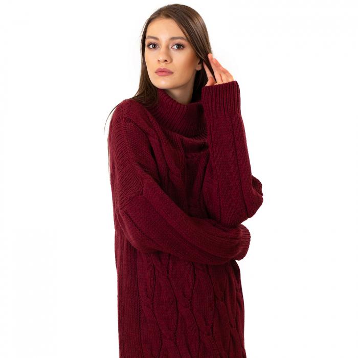 Pulover tricotat cu guler 5